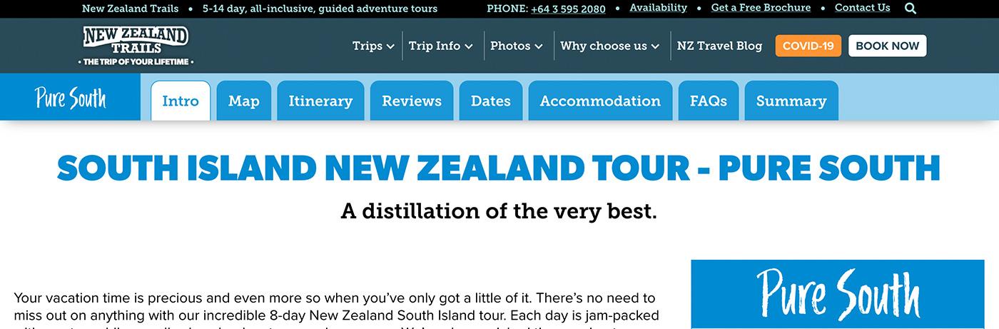 New Zealand Trails Trip Detail