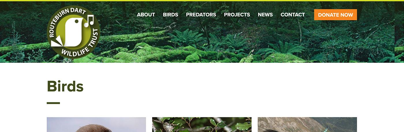 Routeburn Dart Wildlife Trust website