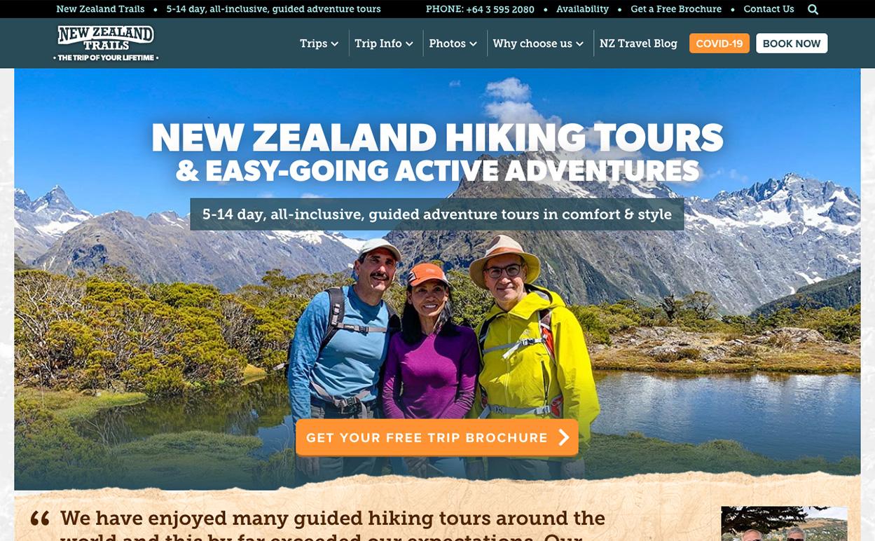 New Zealand Trails website